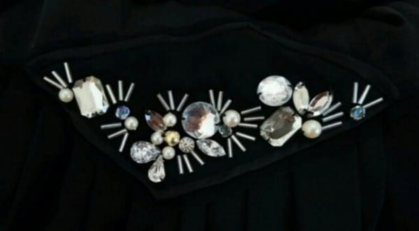 Chesty(チェスティ) ドレス サイズ0 XS レディース美品  黒 ビジュー 7