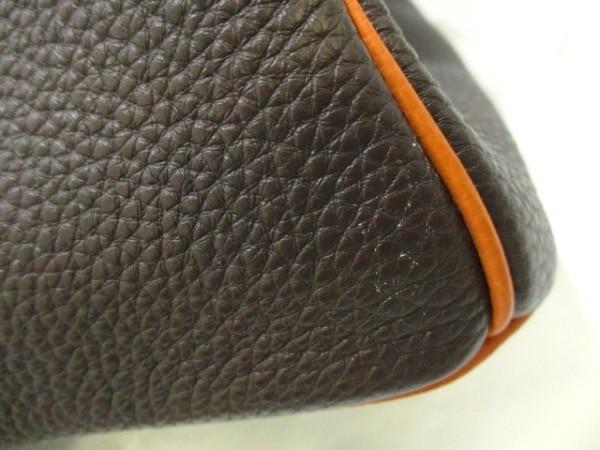 エルメス ハンドバッグ美品  バーキン35 ショコラ×オレンジ トゴ 7