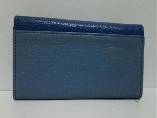 ミュウミュウ キーケース - 5PG222 ブルー×ライトブルー 6連フック 2