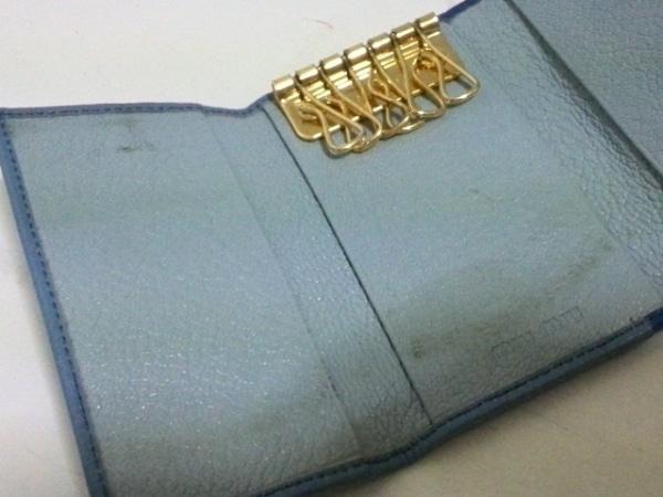 ミュウミュウ キーケース - 5PG222 ブルー×ライトブルー 6連フック 5