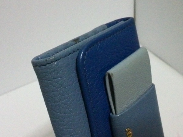 ミュウミュウ キーケース - 5PG222 ブルー×ライトブルー 6連フック 6