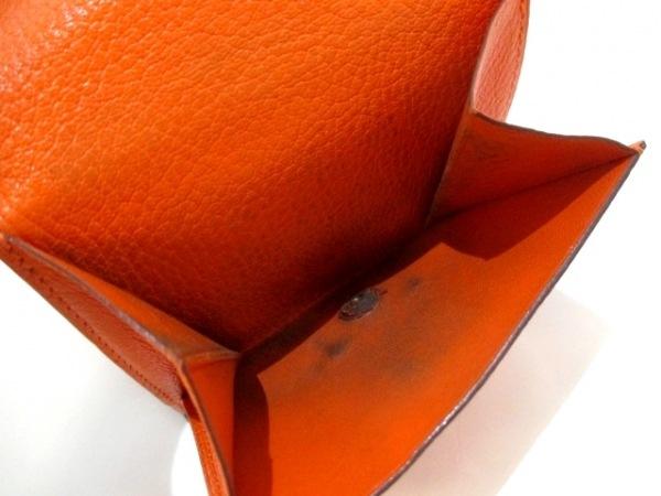 エルメス 2つ折り財布 ベアンコンパクト オレンジ 新型シルバー金具 4
