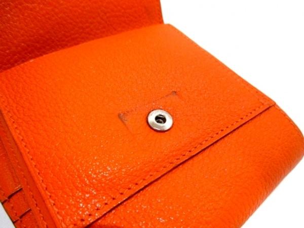エルメス 2つ折り財布 ベアンコンパクト オレンジ 新型シルバー金具 8