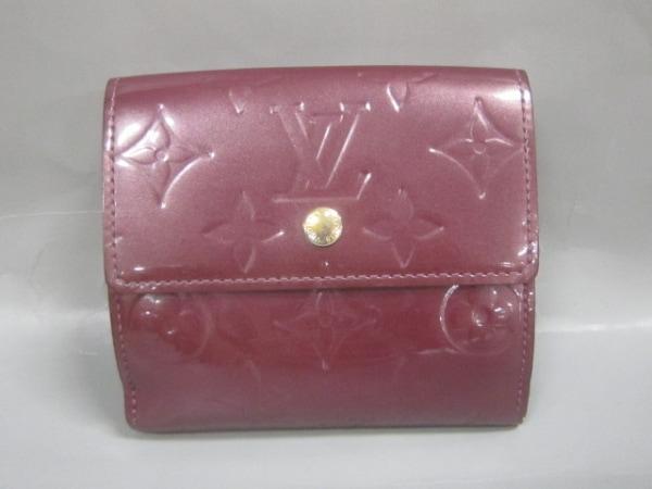 ルイヴィトン Wホック財布 モノグラムヴェルニ M93576 ヴィオレット 0