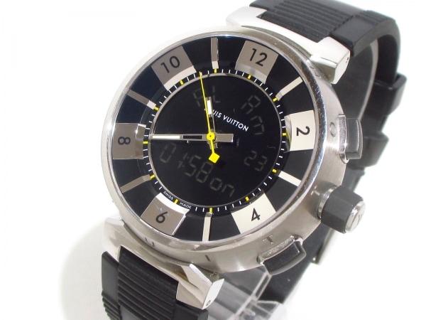 ヴィトン 腕時計美品  タンブールインブラック Q118F メンズ 0