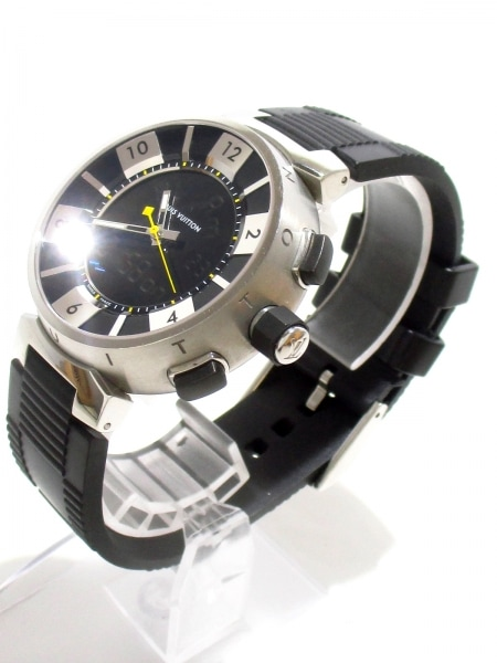 ヴィトン 腕時計美品  タンブールインブラック Q118F メンズ 2