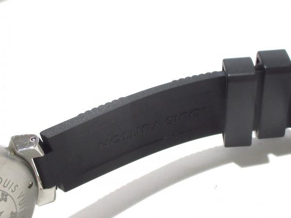 ヴィトン 腕時計美品  タンブールインブラック Q118F メンズ 7