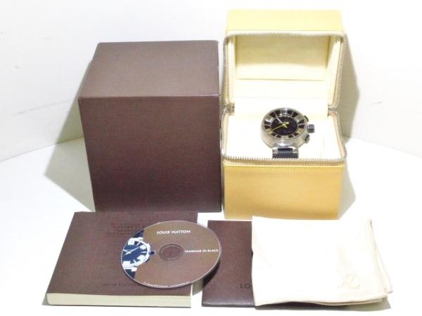 ヴィトン 腕時計美品  タンブールインブラック Q118F メンズ 8