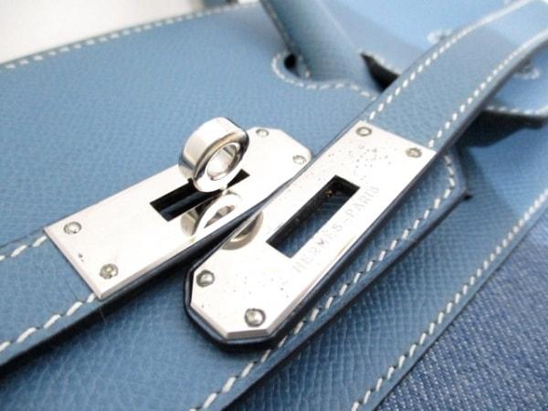 エルメス ハンドバッグ美品  バーキン35 ブルージーン シルバー金具 3
