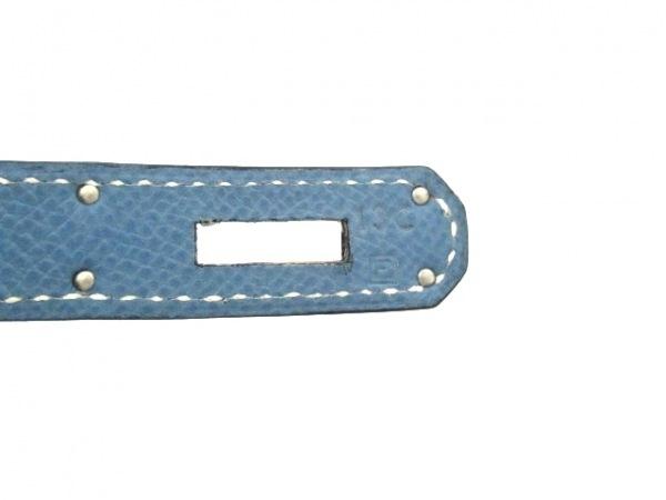 エルメス ハンドバッグ美品  バーキン35 ブルージーン シルバー金具 4