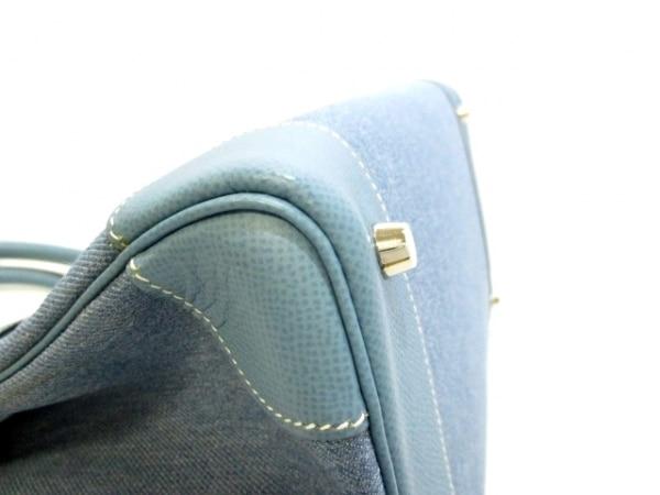 エルメス ハンドバッグ美品  バーキン35 ブルージーン シルバー金具 6