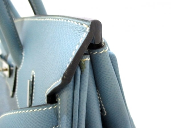 エルメス ハンドバッグ美品  バーキン35 ブルージーン シルバー金具 7