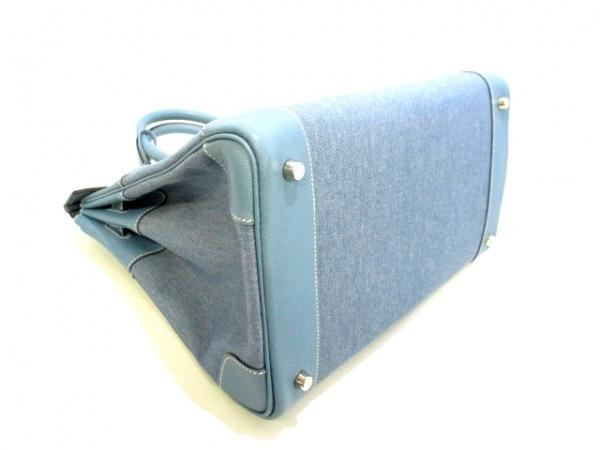 エルメス ハンドバッグ美品  バーキン35 ブルージーン シルバー金具 8