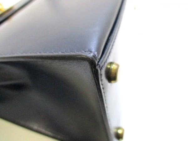 エルメス ハンドバッグ ケリー28 ブルーロワイヤル ボックスカーフ 6
