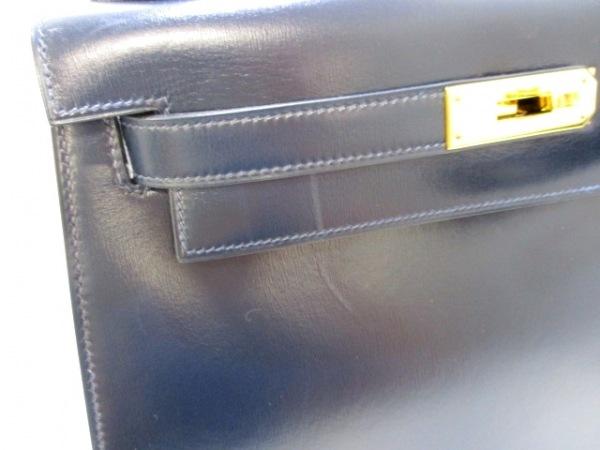 エルメス ハンドバッグ ケリー28 ブルーロワイヤル ボックスカーフ 7