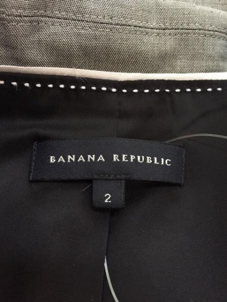 バナナリパブリック スカートスーツ サイズ2 S レディース 白×黒 3