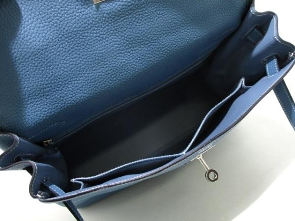 エルメス ハンドバッグ ケリー32 ブルージーン シルバー金具/内縫い 2