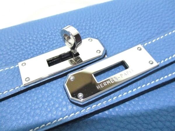エルメス ハンドバッグ ケリー32 ブルージーン シルバー金具/内縫い 3