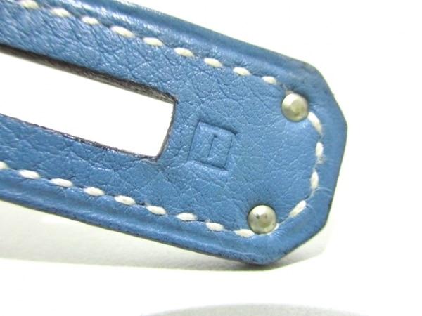 エルメス ハンドバッグ ケリー32 ブルージーン シルバー金具/内縫い 4