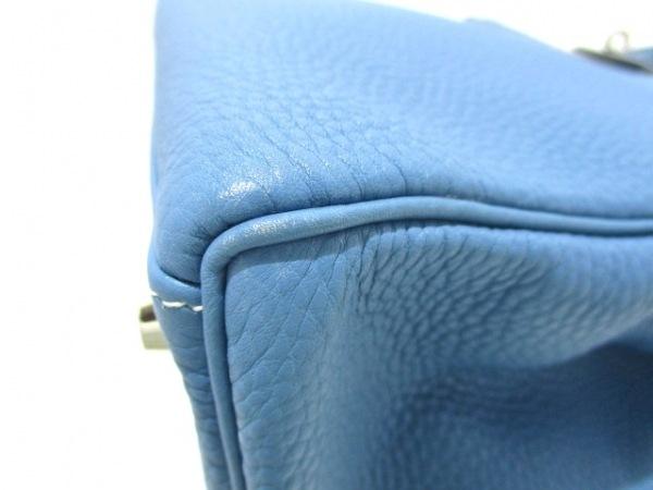 エルメス ハンドバッグ ケリー32 ブルージーン シルバー金具/内縫い 6
