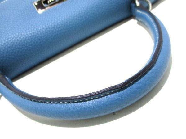 エルメス ハンドバッグ ケリー32 ブルージーン シルバー金具/内縫い 7