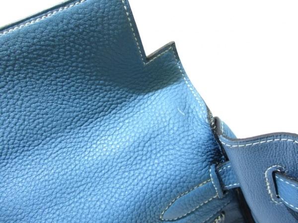 エルメス ハンドバッグ ケリー32 ブルージーン シルバー金具/内縫い 8