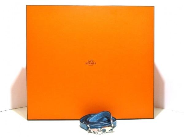エルメス ハンドバッグ ケリー32 ブルージーン シルバー金具/内縫い 9
