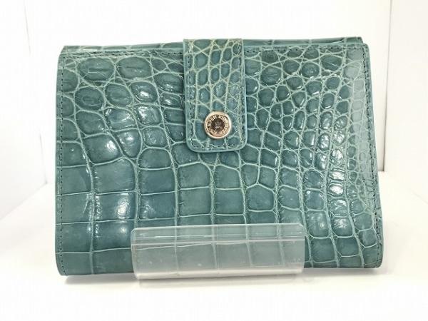 KWANPEN(クワンペン) Wホック財布 ブルー クロコダイル 0