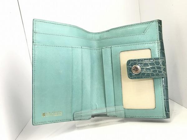 KWANPEN(クワンペン) Wホック財布 ブルー クロコダイル 3