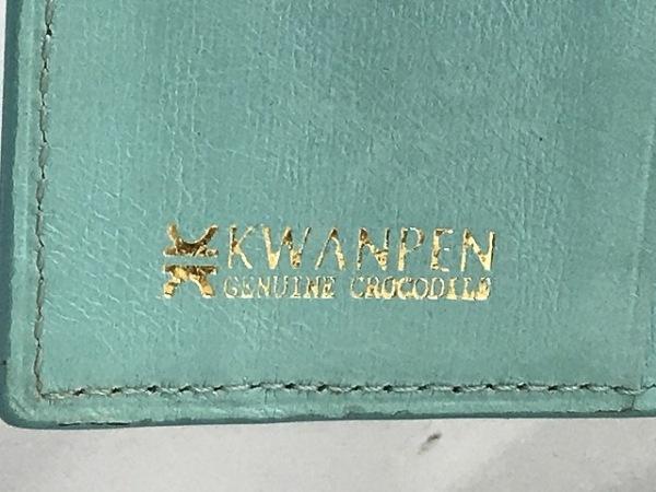 KWANPEN(クワンペン) Wホック財布 ブルー クロコダイル 5