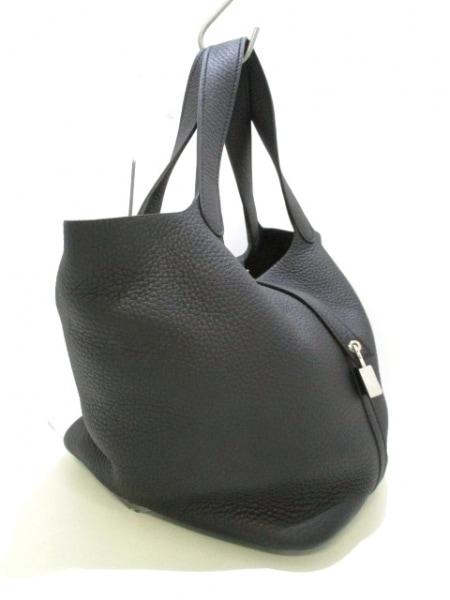 エルメス ハンドバッグ美品  ピコタンロックMM 黒 シルバー金具 2