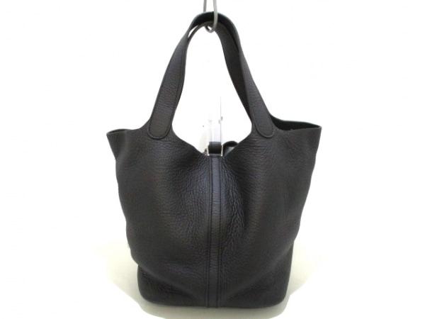 エルメス ハンドバッグ美品  ピコタンロックMM 黒 シルバー金具 3