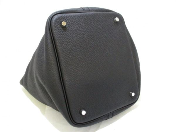 エルメス ハンドバッグ美品  ピコタンロックMM 黒 シルバー金具 4