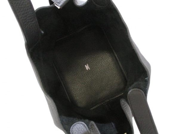 エルメス ハンドバッグ美品  ピコタンロックMM 黒 シルバー金具 5