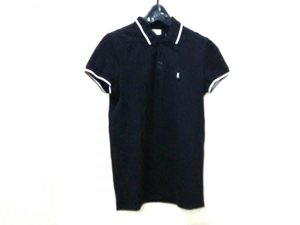 サンローランパリ 半袖ポロシャツ サイズXS メンズ美品  黒×白 0