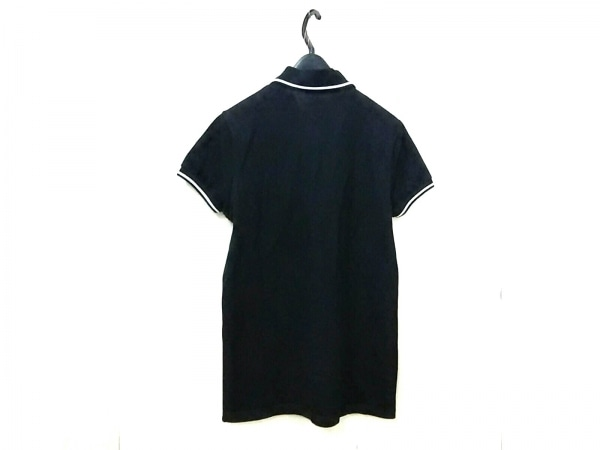 サンローランパリ 半袖ポロシャツ サイズXS メンズ美品  黒×白 2