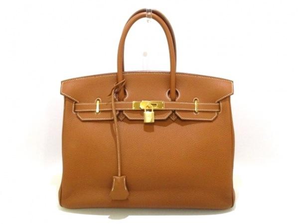 エルメス ハンドバッグ美品  バーキン35 ゴールド ゴールド金具 トゴ 0