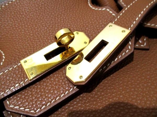 エルメス ハンドバッグ美品  バーキン35 ゴールド ゴールド金具 トゴ 3