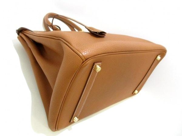 エルメス ハンドバッグ美品  バーキン35 ゴールド ゴールド金具 トゴ 8
