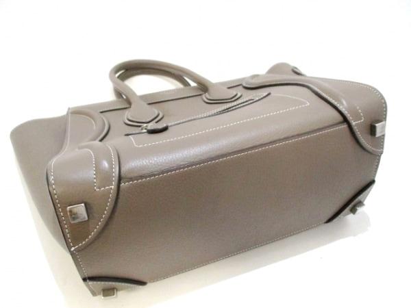 セリーヌ トートバッグ美品  ラゲージマイクロショッパー グレー 4