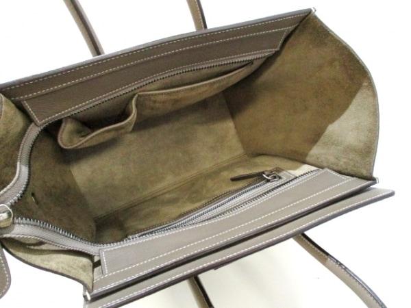 セリーヌ トートバッグ美品  ラゲージマイクロショッパー グレー 5