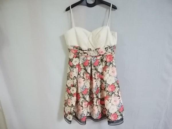 エメ ドレス サイズ9 M レディース アイボリー×ピンク×マルチ 花柄 0