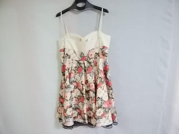 エメ ドレス サイズ9 M レディース アイボリー×ピンク×マルチ 花柄 2