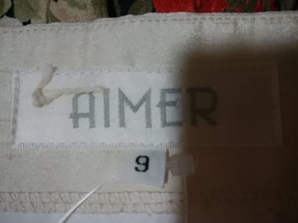 エメ ドレス サイズ9 M レディース アイボリー×ピンク×マルチ 花柄 3