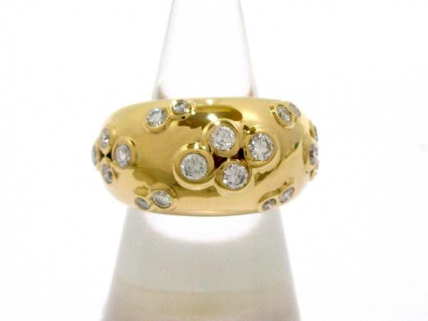 カルティエ リング 53美品  ヌーベルバーグ K18YG×ダイヤモンド 0