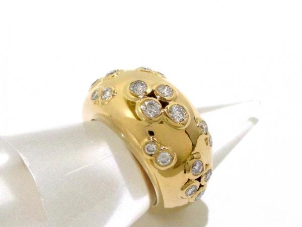 カルティエ リング 53美品  ヌーベルバーグ K18YG×ダイヤモンド 5