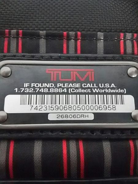 TUMI(トゥミ) バッグ 26806DRH 黒×レッド PCケース/JALコラボ 6