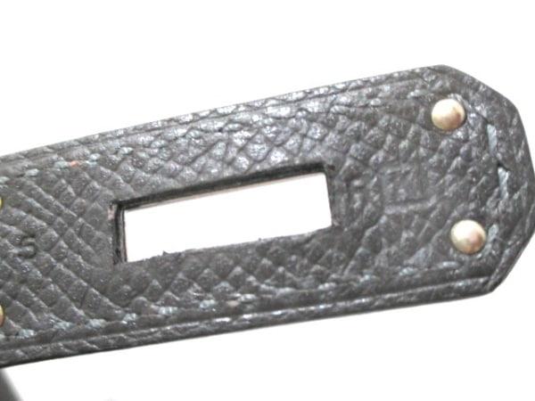エルメス ハンドバッグ バーキン40 グラファイト シルバー金具 4