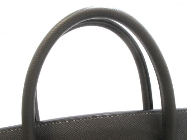 エルメス ハンドバッグ バーキン40 グラファイト シルバー金具 5