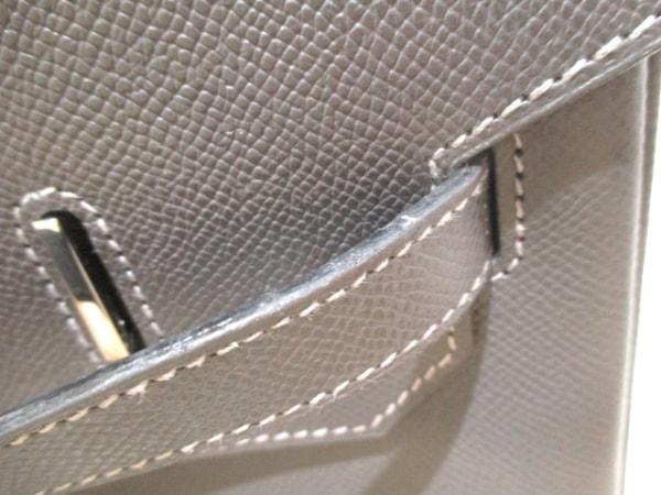 エルメス ハンドバッグ バーキン40 グラファイト シルバー金具 8